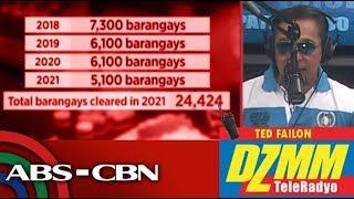 DZMM TeleRadyo: Halos 300 barangay official nasa narco-list, posibleng dumami pa: PDEA