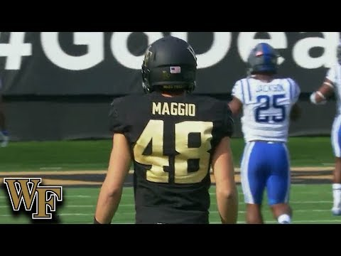 Wake Forest Punter Dom Maggio Booms 74-Yard Punt To 1-Yard Line