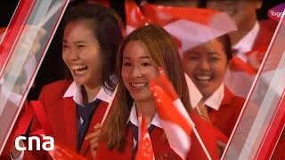 Team Singapore at the SEA Games 2019 opening ceremony