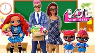 Barbie LOL OMG Class Prez Family - Morning Routine Babysitting Baby Goldie