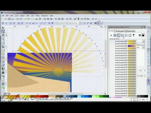 Byteweiser Inkscape Tutorial #5: Sunrays and Clouds