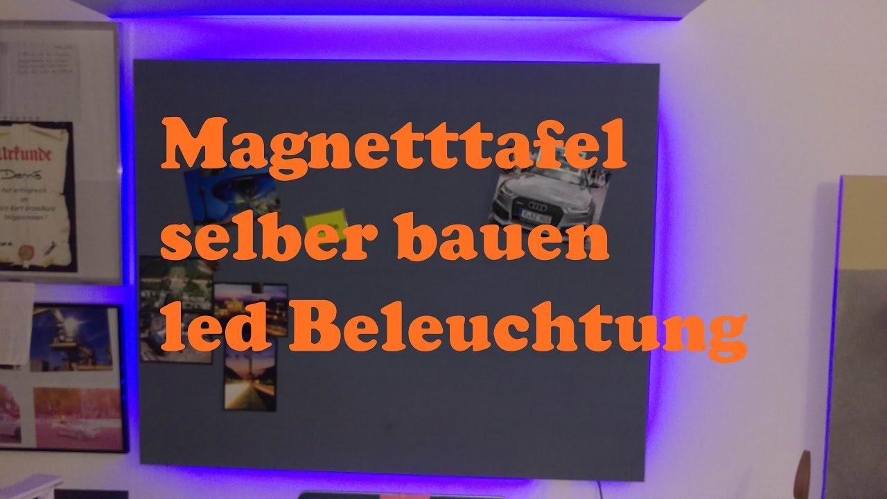 magnettafel selber bauen mit magnetfarbe indirekter led. Black Bedroom Furniture Sets. Home Design Ideas