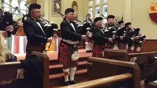 Highland Cathedral by the Aladdin Shrine Pipes & Drums, at the First Presbyterian Church
