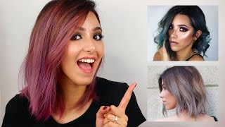 Video HOW I DYE MY HAIR (FROM BROWN TO SILVER, BLUE, PINK) download MP3, 3GP, MP4, WEBM, AVI, FLV Januari 2018