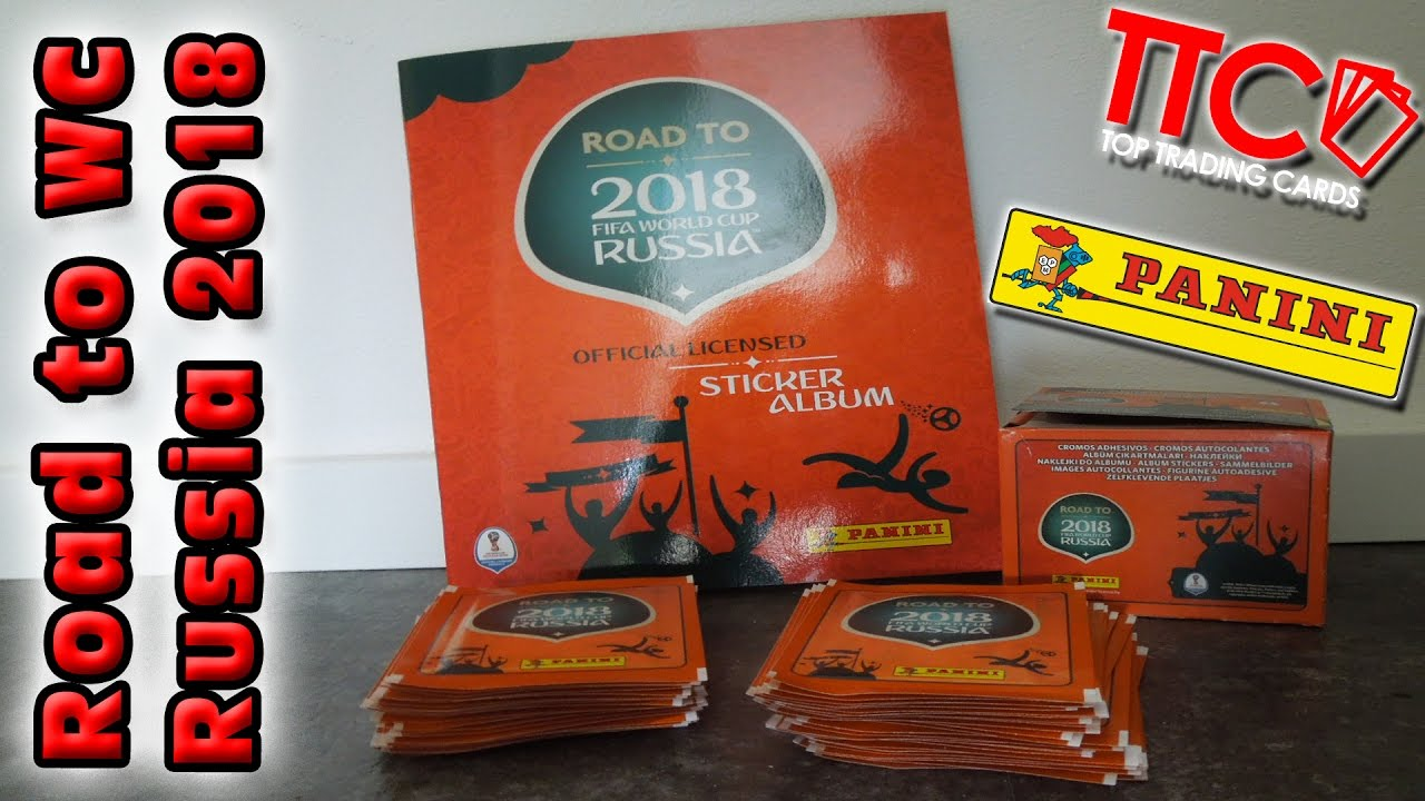 Panini Road World Cup Russia 2018 Full Box 50 Booster