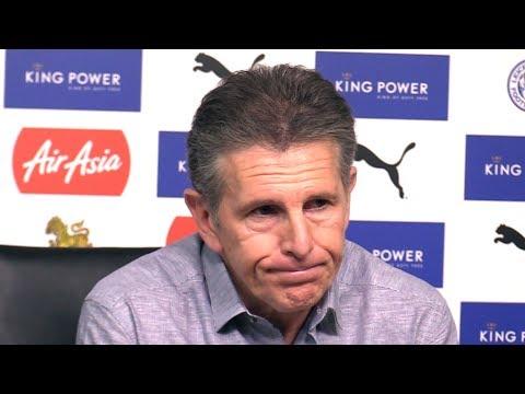 Claude Puel Pre-Match Press Conference - Brighton v Leicester - Premier League