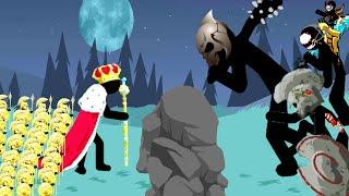 EPIC King & Golden Spearton Army VS ALL BOSSES STICK WAR LEGACY screenshot 1