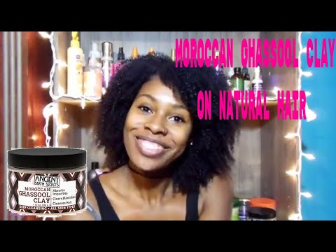 Moroccan Ghassol Clay on natural hair Your Videos on VIRAL CHOP VIDEOS