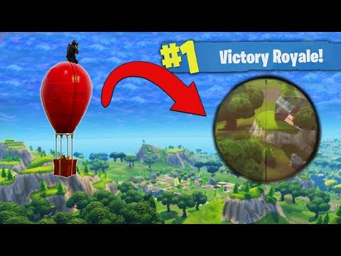 Sniping On The Airdrop Balloon! [Fortnite]