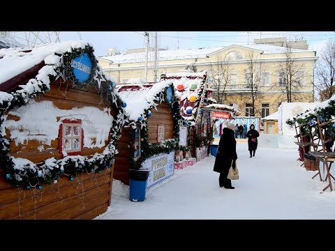 Ледовый городок в Екатеринбурге 2020