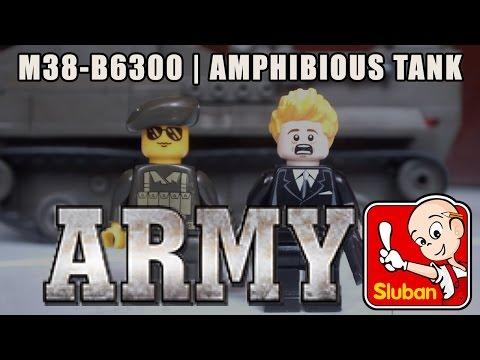 AMPHIBIOUS TANK - Sluban Army Set M38-B6300 [Unboxing - Review]
