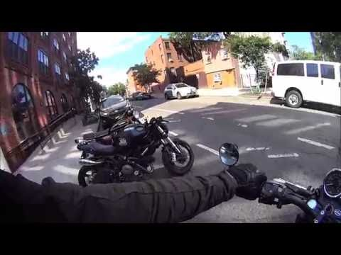 moto guzzi v7 errands in brooklyn jane motorcycles to union garage youtube - Union Garage