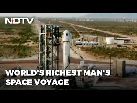 Jeff Bezos, World's Richest Man, Travels To Space In His Own Rocket
