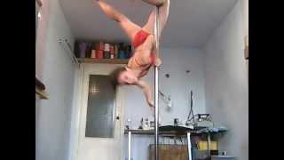 "Pole dance. Уроки танцев.Элемент ""Вариант захода в Brass Monkey """