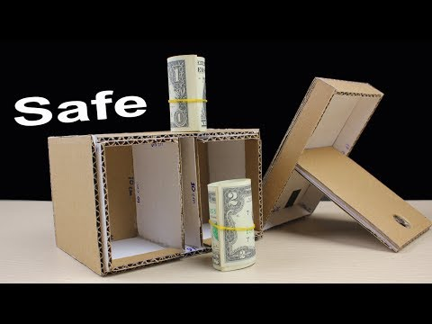How to Make Safe from Cardboard without Combination Lock - Easy Diy