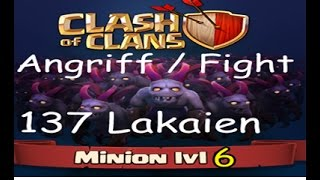 Clash Of Clan Angriff mit 137 Lakaien Level 6 Let's Play Coc OutlawZ Clan
