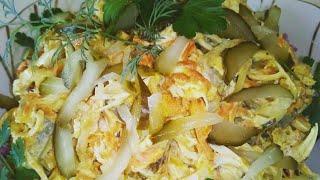 Салат Обжорка. Очень вкусный и сытный салат Обжорка. Salad Obzhorka.
