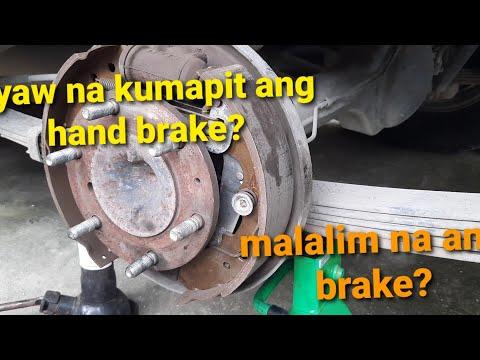 how to adjust brake and hand brake [isuzu crosswind]..