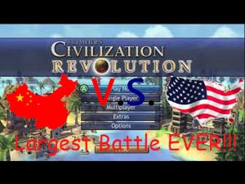 Civilization Revolution (Largest Battle EVER!!!!)