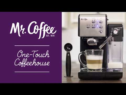 Mr Coffee One Touch Coffeehouse Youtube