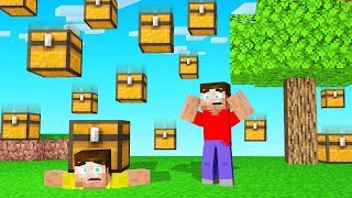 MINECRAFT But It Is RAINING CHESTS!