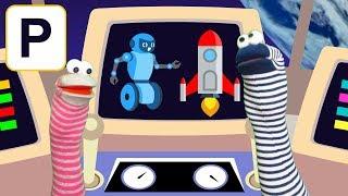 Урок 11. Космическое путешествие умных червячков.  Слоги и слова с буквой Р. Постановка звука Р.