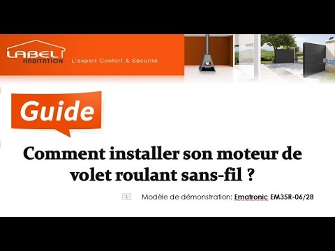 moteur de volet roulant sans fil guide d 39 installation par labelhabitation youtube. Black Bedroom Furniture Sets. Home Design Ideas
