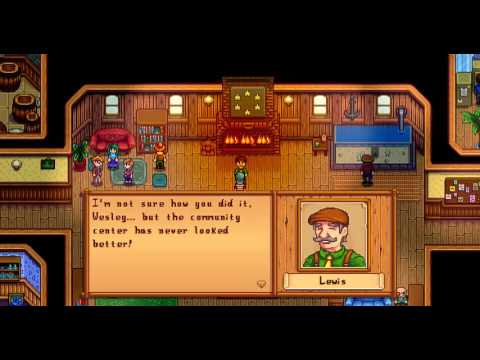 Stardew Valley - Community Center Completion Cut Scene