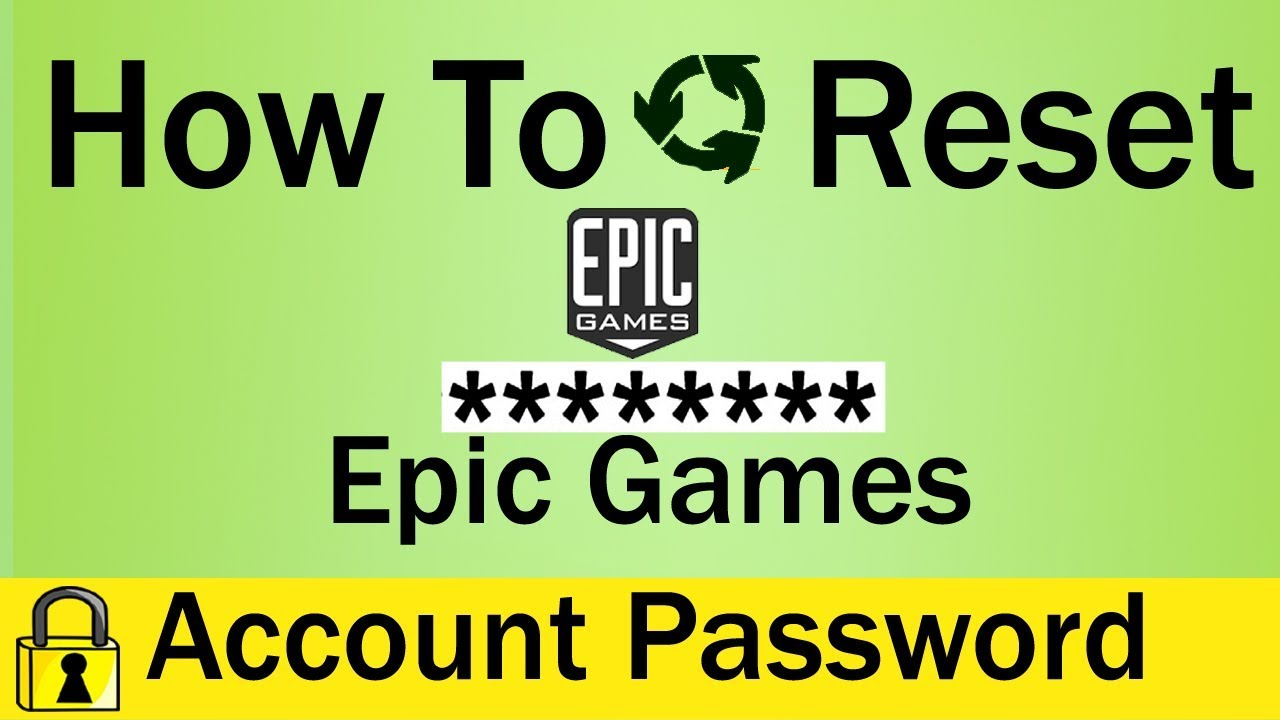 How To Reset Epic Games Account Password