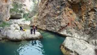 Descenso del Guadalentin, embalse de la Bolera, Pozo Alcon (Jaen)