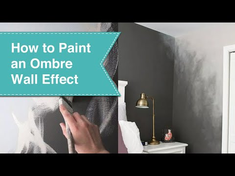 How to paint an ombr effect youtube Grey sponge painted walls
