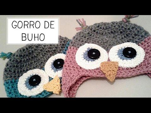 Gorro de Buho a Crochet - Tallas de 0 a 2 años - Parte 1 de 2 ...