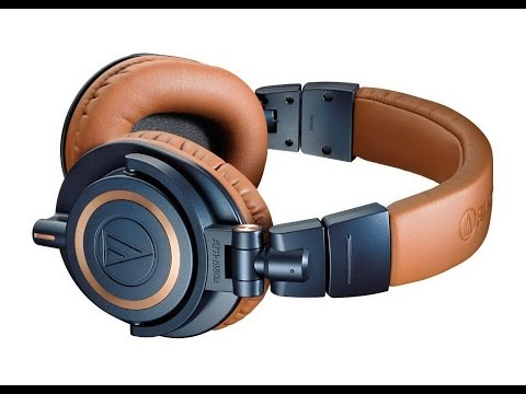 Распаковка Audio-Technica ATH-M50x в сине-медном цвете (unboxing)