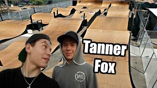TOP SPEED ON SCOOTER ON SKATEPARK RACETRACK! (featuring Tanner Fox)