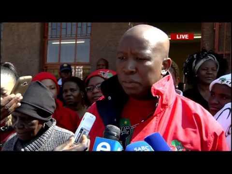 Julius Malema casts his vote