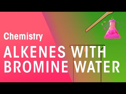 Testing Alkenes With Bromine Water | Chemical Test | Chemistry | FuseSchool