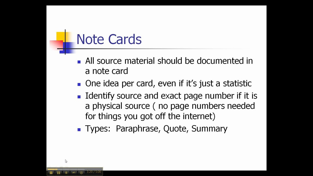 Creating Note Cards For Research YouTube