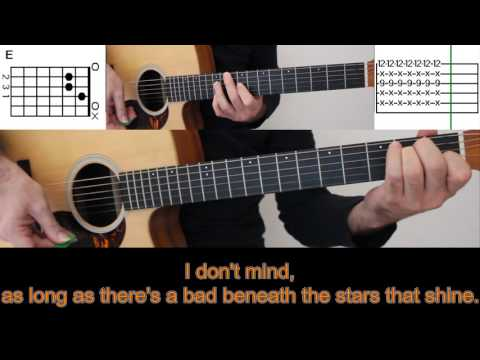 The importence of being idle by Oasis - ♫ Guitar Tutorial - Karaoke