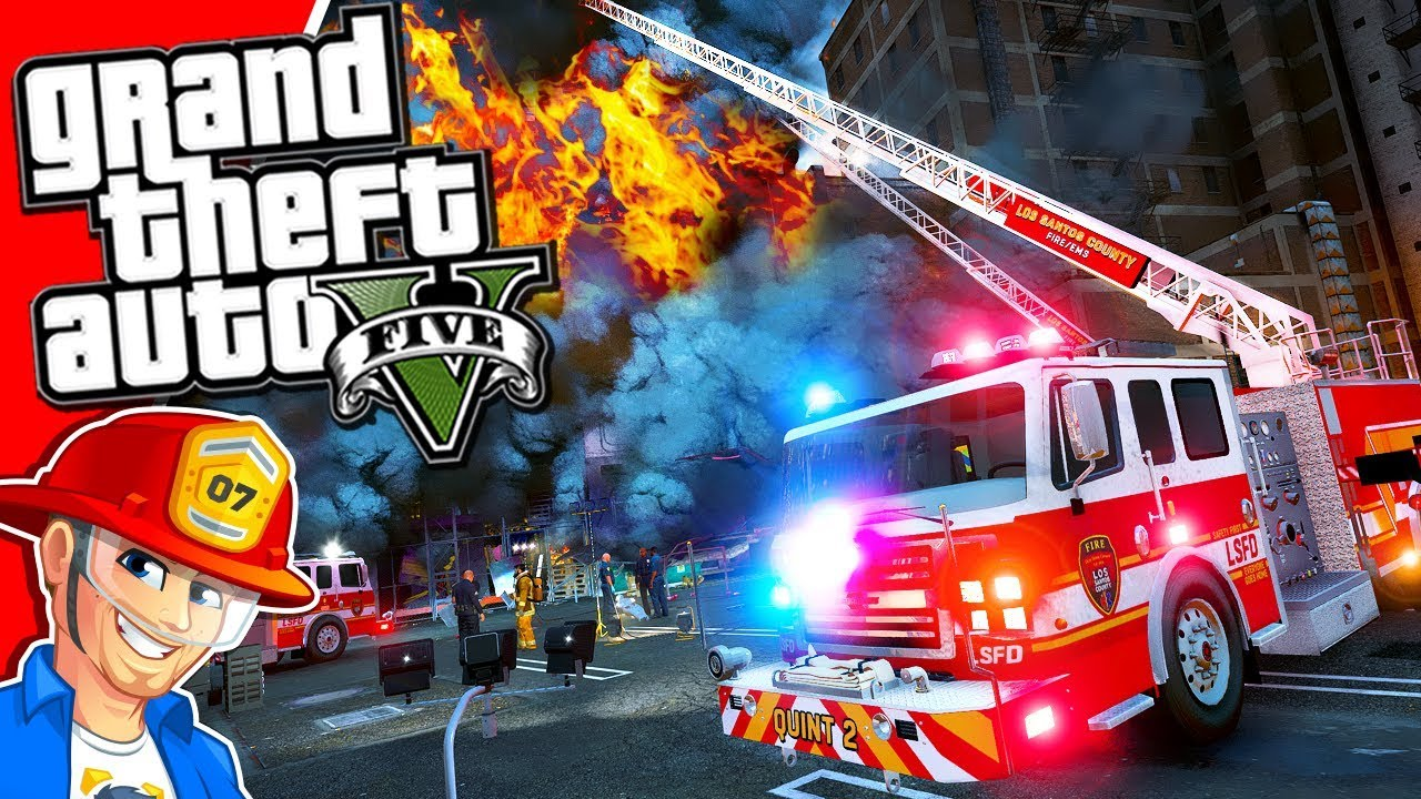 GTA 5: BIGGEST FIRE EVER! | GTA 5 Fire Department Mod LIVE