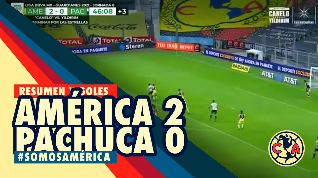 Resumen y goles América 2-0 Pachuca Jornada 8 Liga MX Guard1anes2021