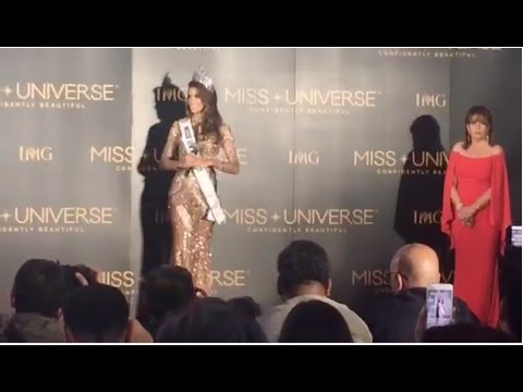Miss Universe 2017 - LIVE PRESS CONFERENCE 65th Miss Universe Winner - MISS FRANCE Iris Mittenaere