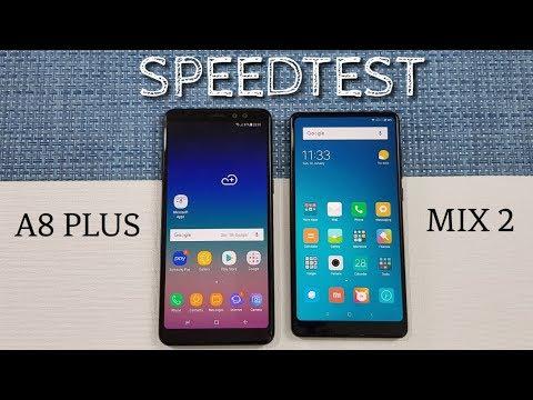 Samsung Galaxy A8+ (2018) vs Mi Mix 2 Speed Test Comparison !