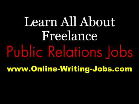 My Freelance Career : All About Freelance Public Relations Jobs