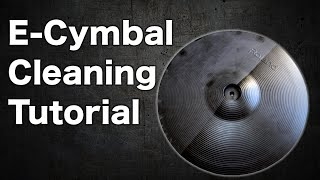 E-drum cymbal cleaning