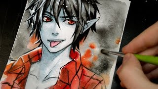 Marshall Lee (Adventure Time)【WATERCOLOR SKETCH SPEEDPAINT】