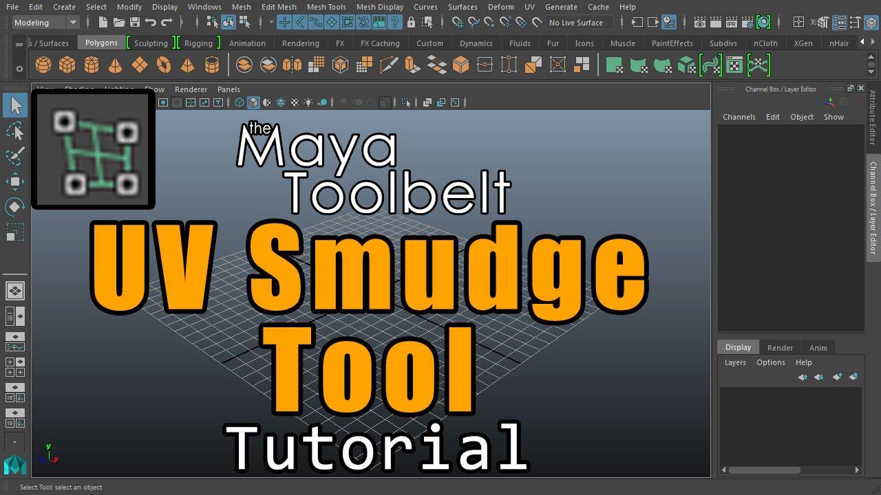 The maya toolbelt uv smudge tool youtube the maya toolbelt uv smudge tool sciox Gallery