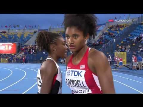 59 Anna Cockrell 400m Hurdles FINAL Women's HD World U20 Championships Bydgoszcz 2016