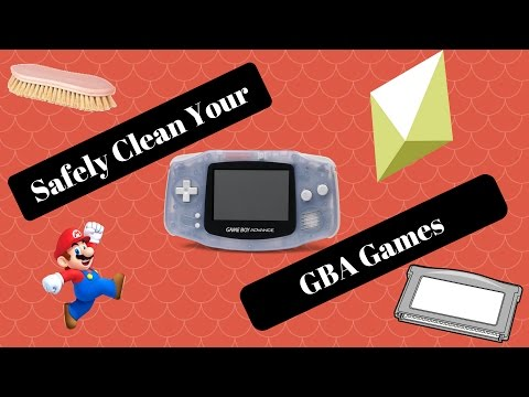 How to SAFELY Clean your GBA Games the RIGHT Way
