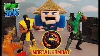 Mortal Kombat Scorpion vs Reptile Figures Stop Motion Battle Storm Collectables Toys PIXEL PALS