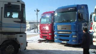 Transporting MAN TGA from Lithuania (-21C cold) 16.02.2011.